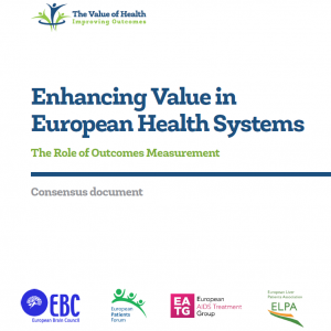 consensus doc value of healthcare systems