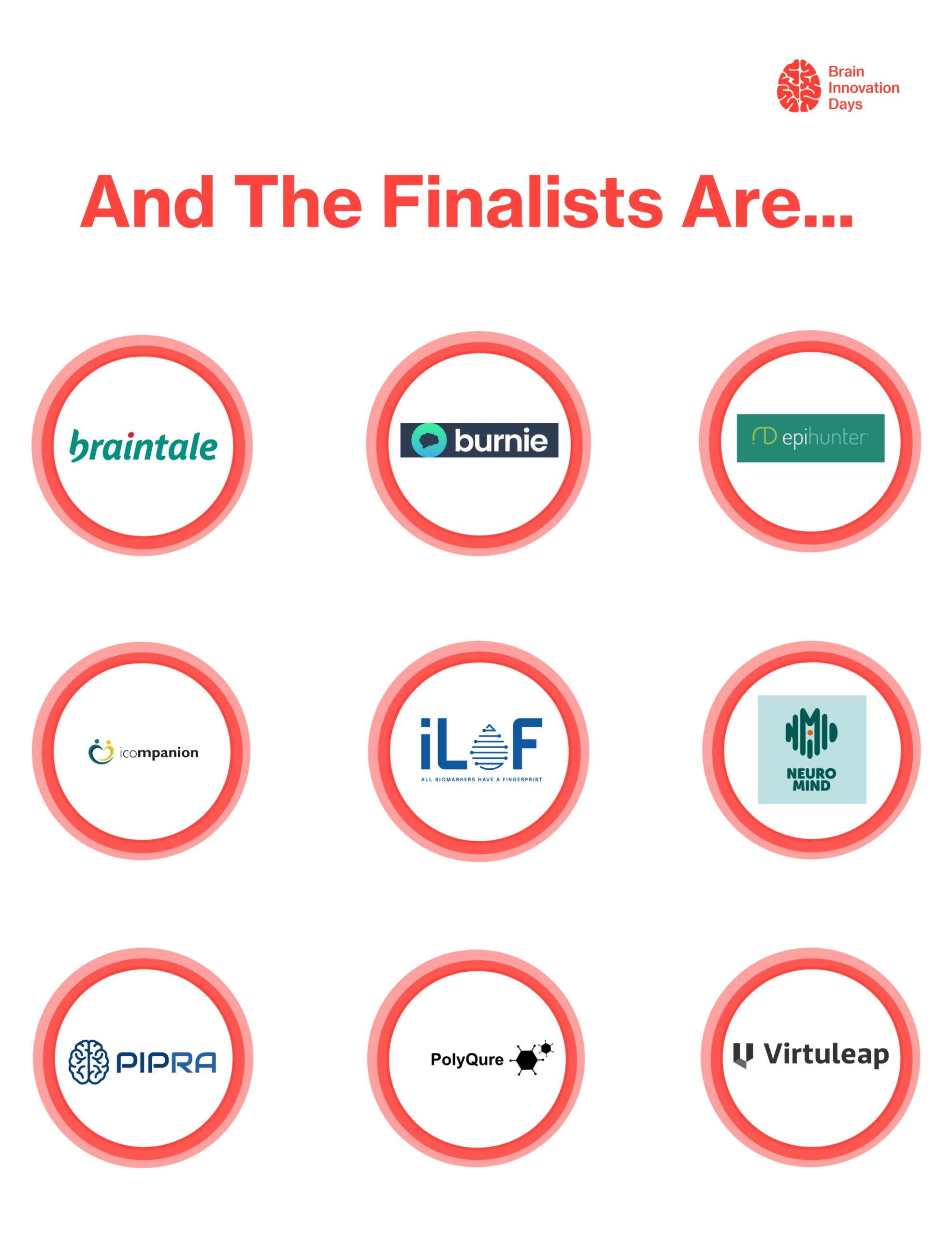 Brain Innovation Days Pitch Competition Finalists Announced