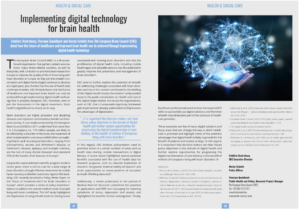 Implementing digital technology for brain health