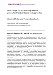 MS in Europe the value of integrated and personalised health and social care approaches