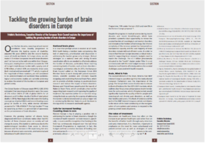 Tackling the growing burden of brain disorders in Europe